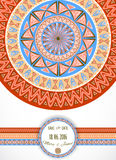 Greeting card with tribal ornament. Stock Photos