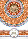 Greeting card with tribal ornament. Royalty Free Stock Photos