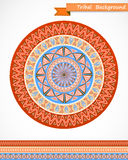 Greeting card with tribal ornament. Royalty Free Stock Images