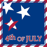 Greeting card - USA Independence Day. Abstract greeting card - USA Independence Day with stars, stripes and text Royalty Free Stock Image