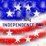 Greeting card - USA Independence Day Royalty Free Stock Photos