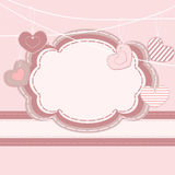 Greeting card Valentine motives Royalty Free Stock Images