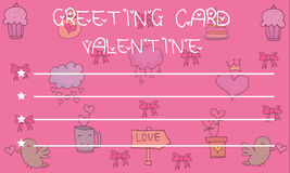 Greeting Card Valentine on pink backgrounds. Collection Royalty Free Stock Photography