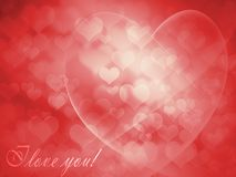 Greeting Card for Valentine's Day Royalty Free Stock Photos