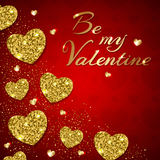 Greeting card for Valentine`s day. Royalty Free Stock Image