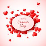 Greeting card of Valentine`s day. Amour and love symbol the holiday. Template for wedding invitation and other event. Vector. Illustration Royalty Free Stock Photography