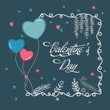 Greeting card for Valentine's Day celebration. Stock Photo