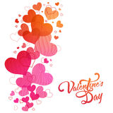 Greeting Card for Valentine`s Day celebration. Royalty Free Stock Photos