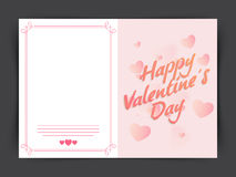 Greeting card for Valentine's Day celebration. Stock Photos