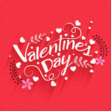 Greeting card for Valentine's Day celebration. Royalty Free Stock Photos
