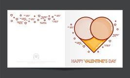 Greeting card for Valentine`s Day Celebration. Stock Photo