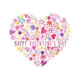 Greeting Card for Valentine`s Day Celebration. Stock Photography