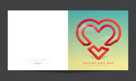 Greeting card for Valentine`s Day Celebration. Stock Photos