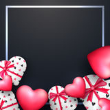 Greeting Card for Valentine`s Day celebration. Royalty Free Stock Image