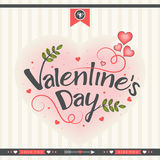 Greeting card for Valentine's Day celebration. Royalty Free Stock Images