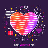 Greeting Card for Valentine`s Day celebration. Royalty Free Stock Photo