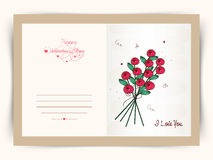 Greeting card for Valentine's Day celebration. Royalty Free Stock Photo