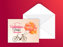 Greeting card for Valentine's Day celebration. Royalty Free Stock Photography