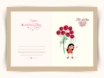 Greeting card for Valentine's Day celebration. Royalty Free Stock Image
