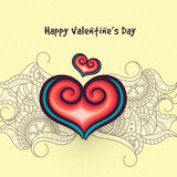 Greeting card for Valentine's Day celebration. Stock Photography