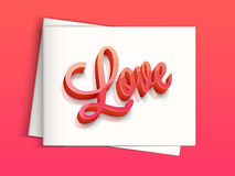Greeting card for Valentine's Day celebration. Stock Images