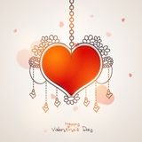 Greeting card for Valentine`s Day Celebration. Stock Images