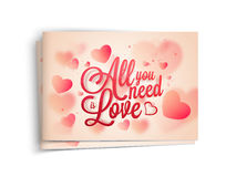 Greeting card for Valentine's Day celebration. Stock Photo