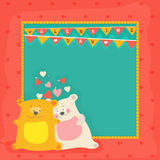 Greeting Card for Valentine`s Day celebration. Royalty Free Stock Images