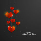 Greeting card for Valentine`s Day Celebration. Stock Image