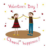Greeting card for Valentine's Day Stock Images