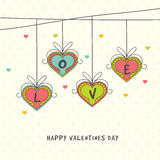 Greeting card for Valentine's Day. Stock Photos