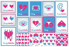 Greeting card for Valentine`s day Royalty Free Stock Images