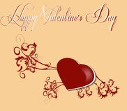 Greeting card valentine`s day Stock Image