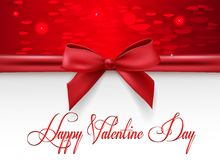 Greeting card valentine`s day Stock Photography