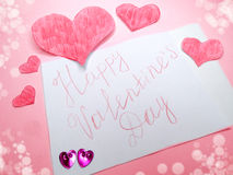 Greeting card valentine`s day love holiday concept Royalty Free Stock Images