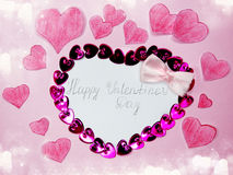 Greeting card valentine`s day love holiday concept Royalty Free Stock Image