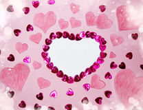 Greeting card valentine`s day love holiday concept Royalty Free Stock Photos