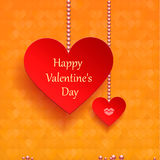 Greeting card for Valentine's Day.paper set of hearts Royalty Free Stock Image