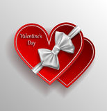 Greeting card for Valentine's Day.paper set of hearts Stock Photos