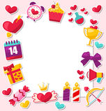 Greeting Card for Valentine's Day. Place for Your Text Royalty Free Stock Images