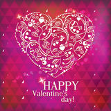 Greeting Card Valentine's Day Stock Image