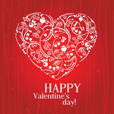 Greeting Card Valentine's Day Royalty Free Stock Photo