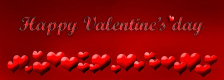 Greeting card valentine`s day Stock Photos