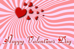 Greeting card for Valentine's Day Royalty Free Stock Photography
