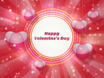Greeting Card for Valentines Day Royalty Free Stock Photo