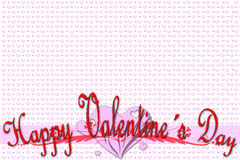 Greeting card for Valentine's Day Stock Image