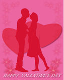 Greeting card Valentine's Day Royalty Free Stock Photos
