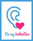 Greeting card for Valentine's day royalty free stock image