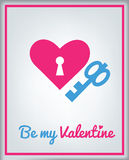 Greeting card for Valentine's day stock photos