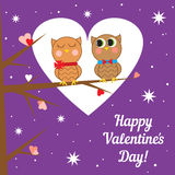 Greeting card for Valentine's day. Vector Royalty Free Stock Image